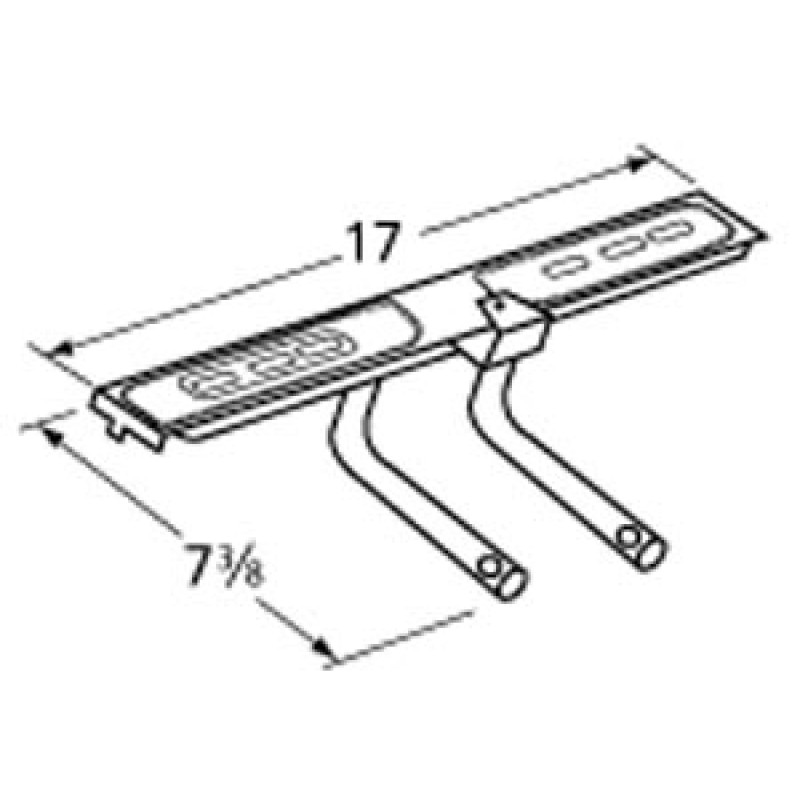 "9915912 Aluminized Steel Burner 17"" x 7.375"" USE # SBT17"