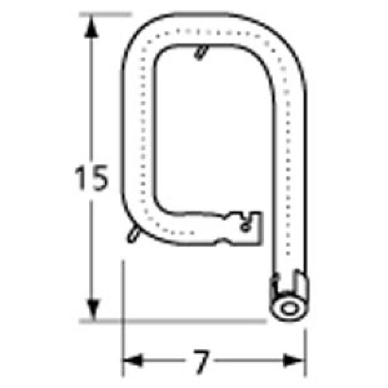 "99162L1 Stainless Steel Burner 15"" x 7"""