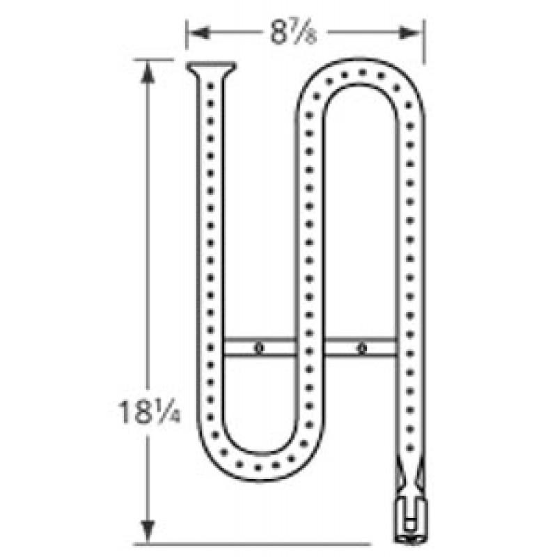 """20186701 Ducane Stainless Steel Burner 18.25"""" x 8.875"""""""