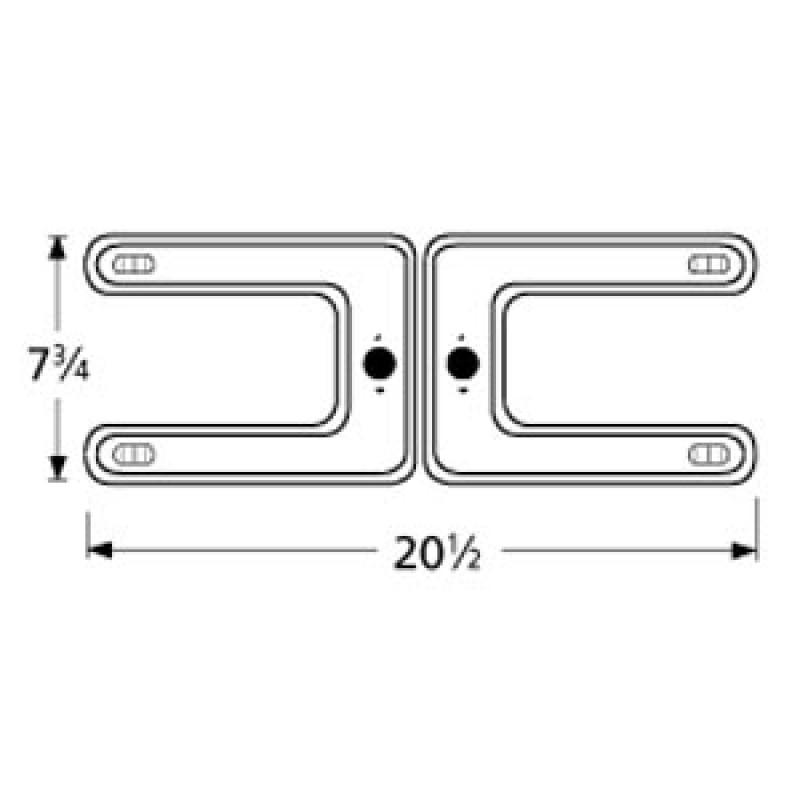 "9918202 Stainless Steel Burner 20.5"" x 7.75"""