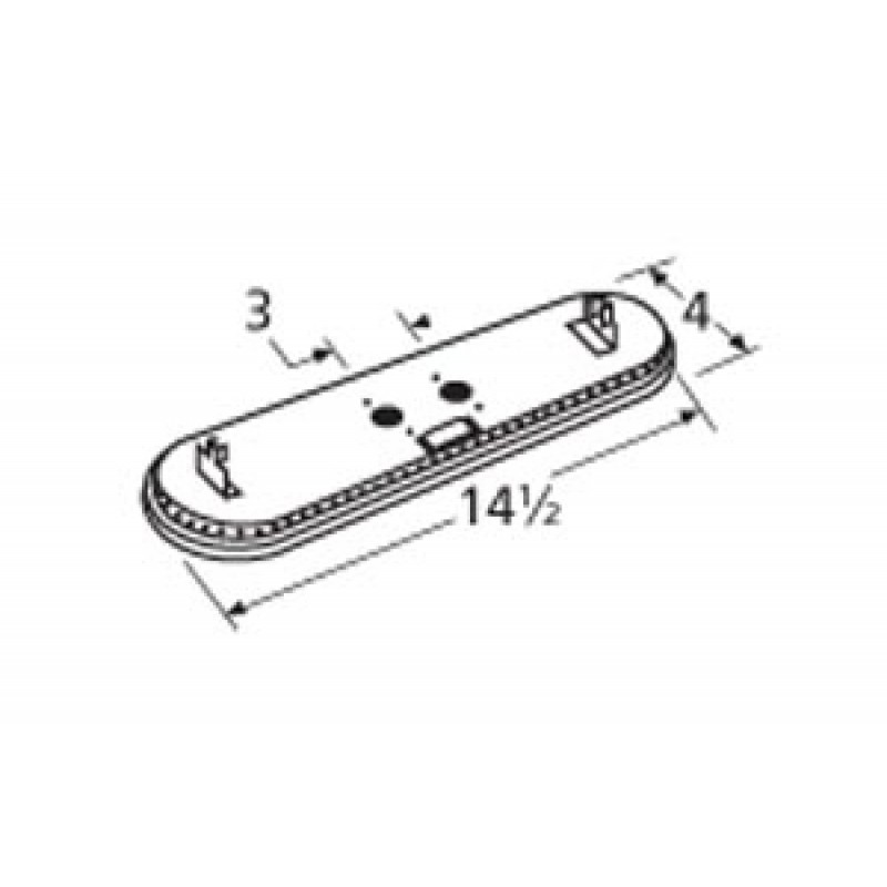 "9919002 Stainless Steel Burner 14.5"" x 4"""