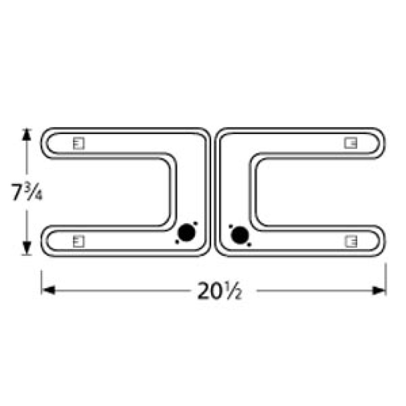 "9919202 Stainless Steel Burner 20.5"" x 7.75"""