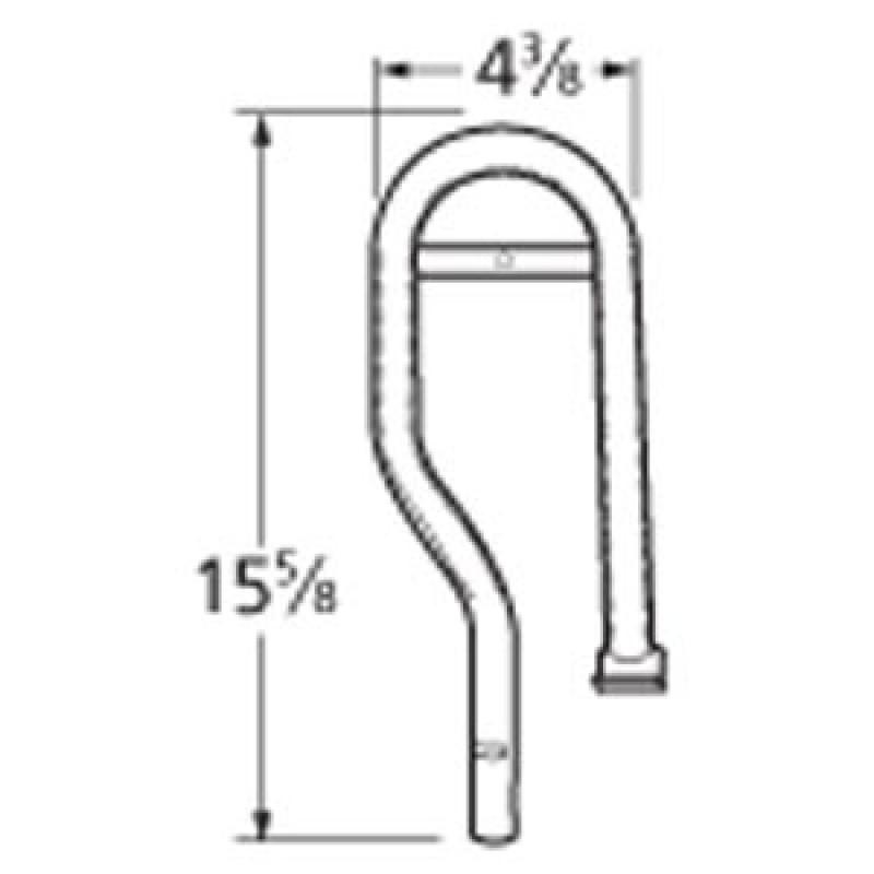 "991L171 Stainless Steel Burner 15.625"" x 4.375"""