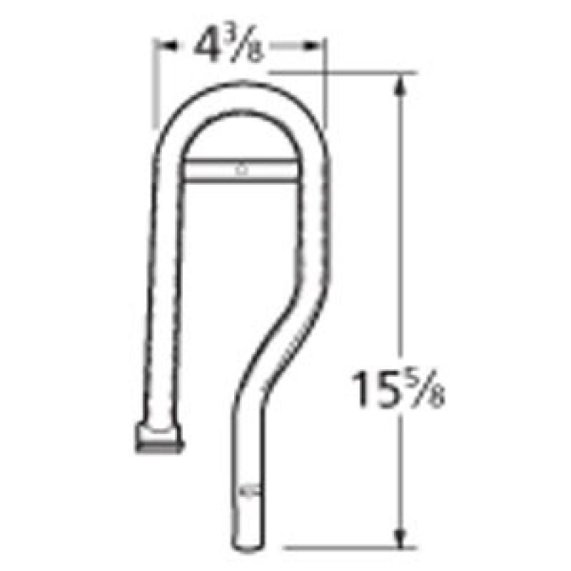 "991R191 Stainless Steel Burner 15.625"" x 4.375"""