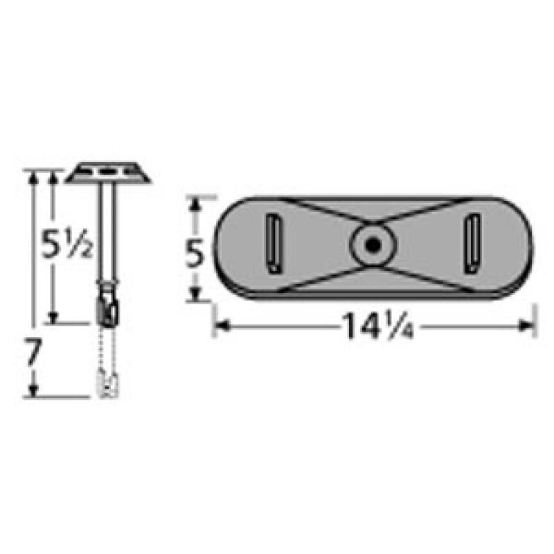 "9921301-70301 Cast Iron Burner 14.25"" x 5"""