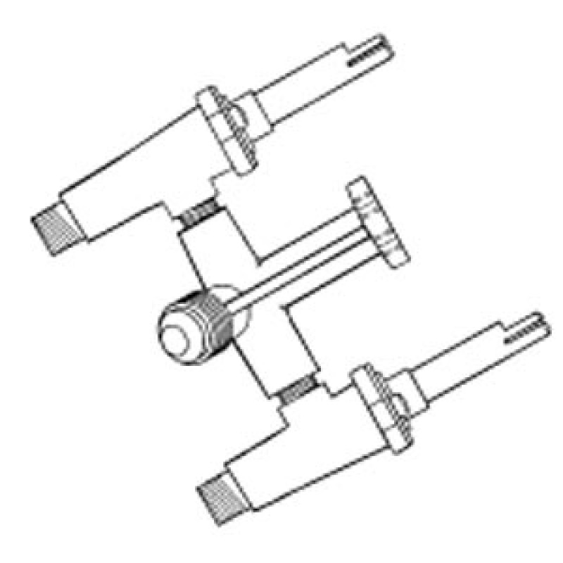 9934800 Brass Valve Assembly For Broilmaster, Lp Gas