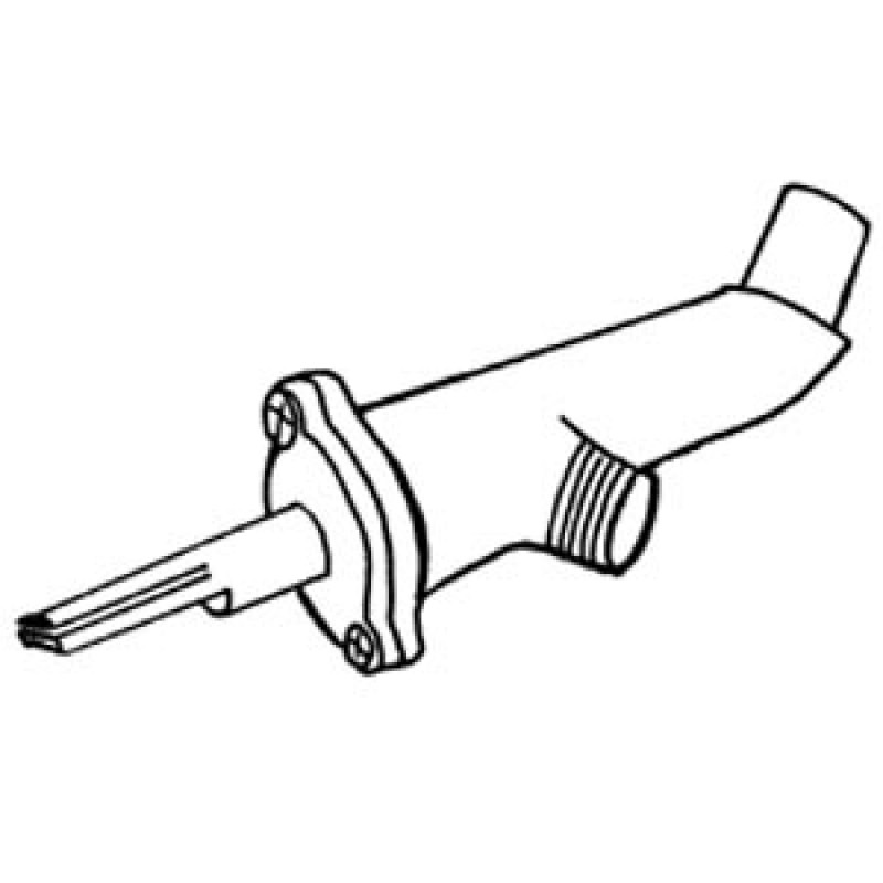 9938500 Left Hand Valve With 45-Degree Orifice Snout, 11/32-32 Threading