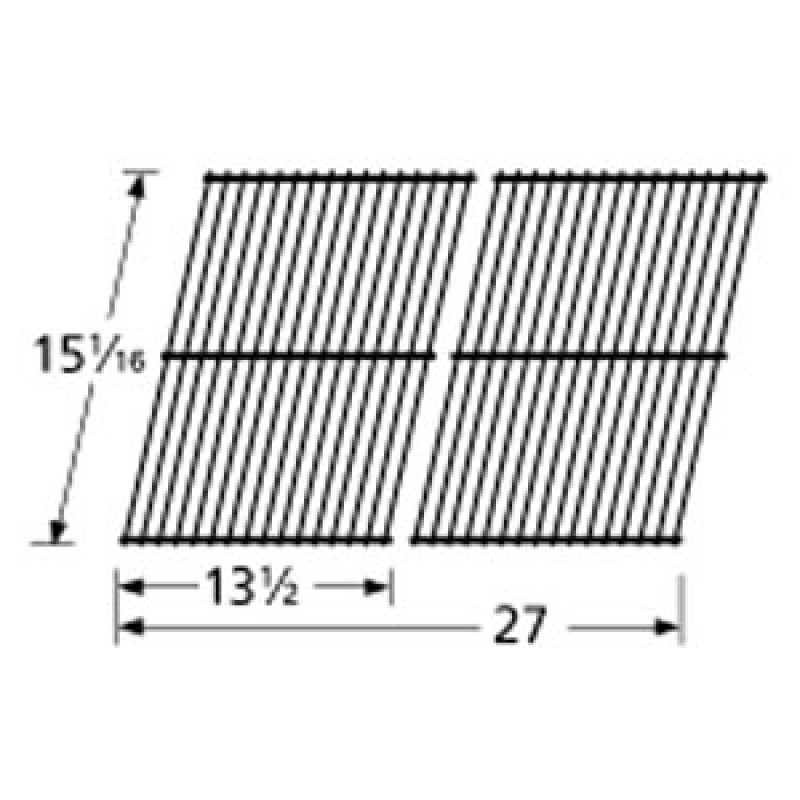 "9940502 Chrome Steel Wire Cooking Grid 15.0625"" x 27"""