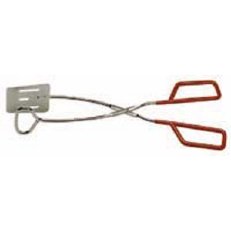9940730 2 In 1 Chrome Plated Turner / Tong With Pvc Coated Handle