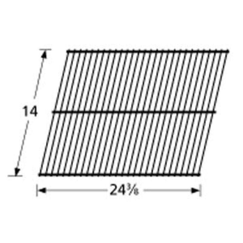 "9940901 Chrome Steel Wire Cooking Grid 14"" x 24.375"""