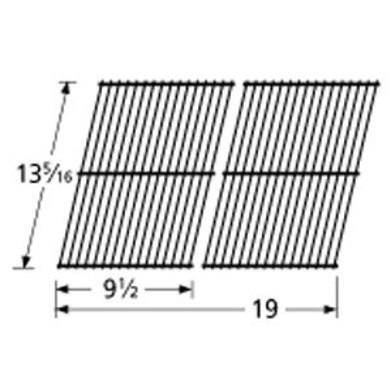 """9950402 Porcelain Steel Wire Cooking Grid 13.3125"""" x 19"""""""