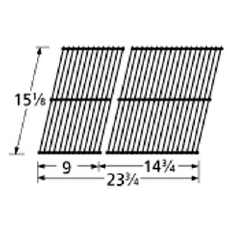 """9950912 Porcelain Steel Wire Cooking Grid 15.125"""" x 23.75"""""""