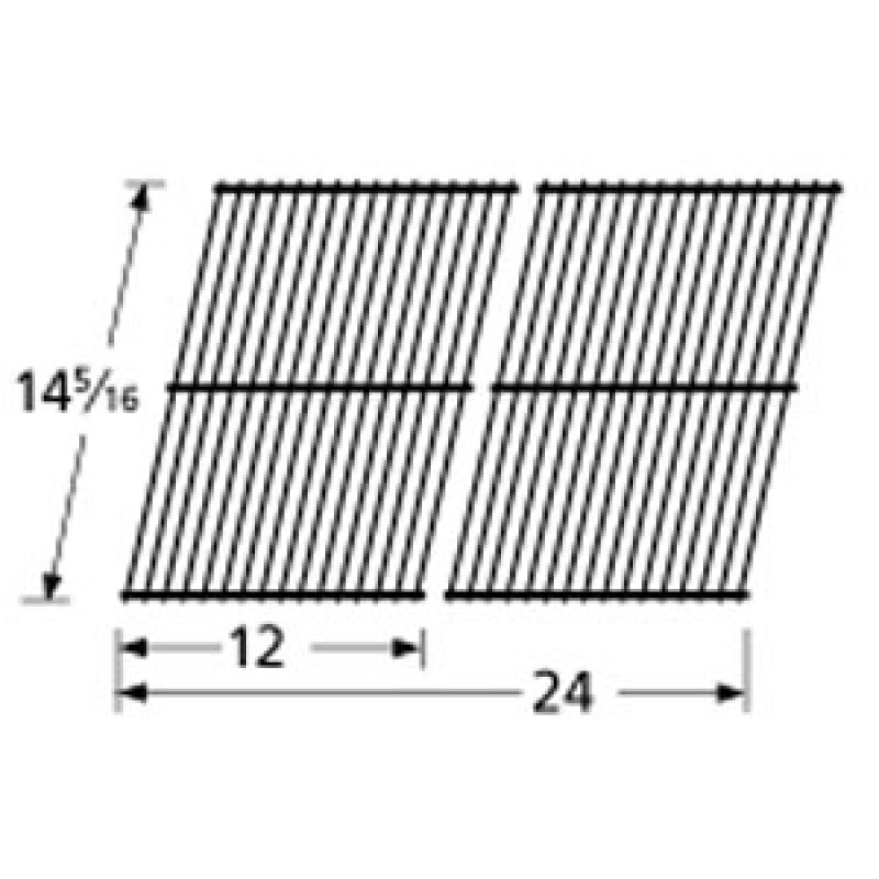 "9951302 Porcelain Steel Wire Cooking Grid 14.3125"" x 24"""