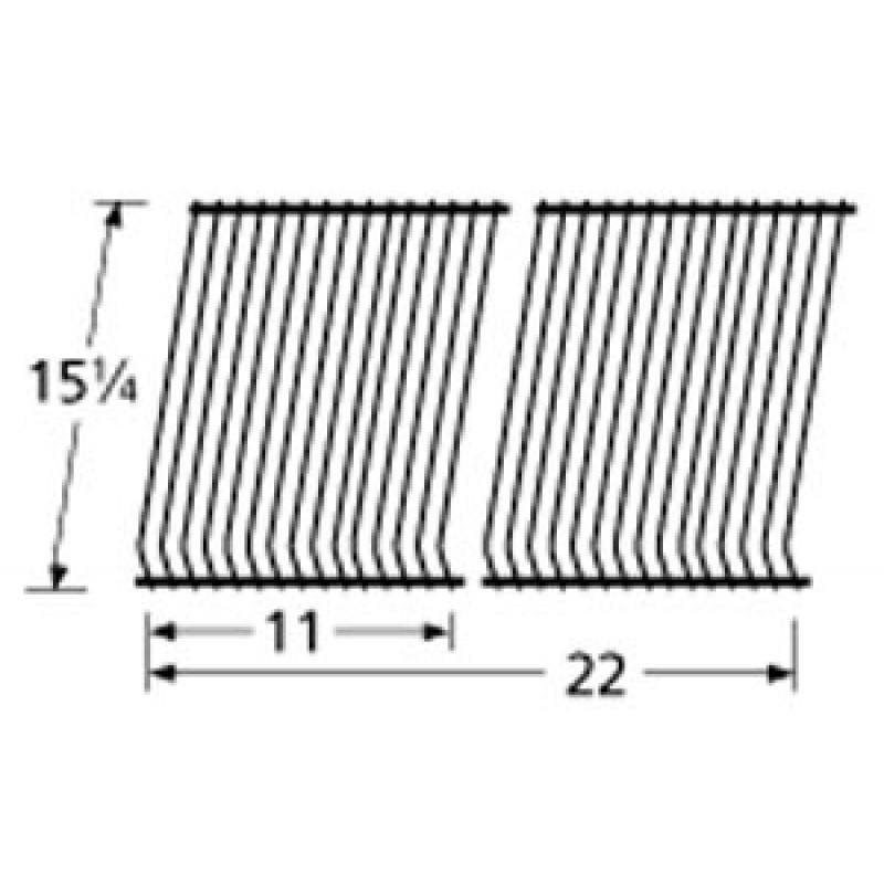 "9952202 Porcelain Steel Wire Cooking Grid 15.25"" x 22"""