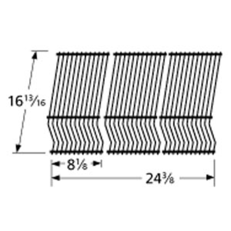 "9952503 Porcelain Steel Wire Cooking Grid 16.8125"" x 24.375"""