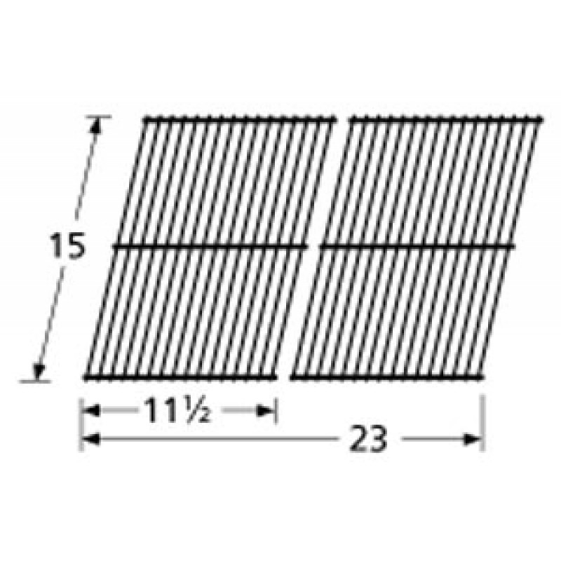 "9952902 Porcelain Steel Wire Cooking Grid 15"" x 23"""