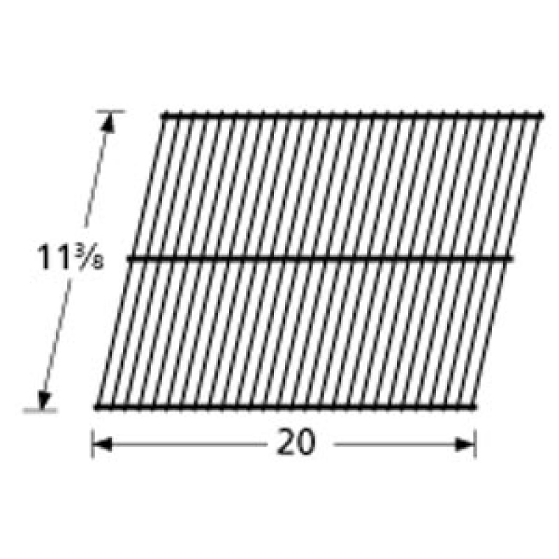 """SP124-3 Porcelain Steel Wire Cooking Grid 11.375"""" x 20"""""""