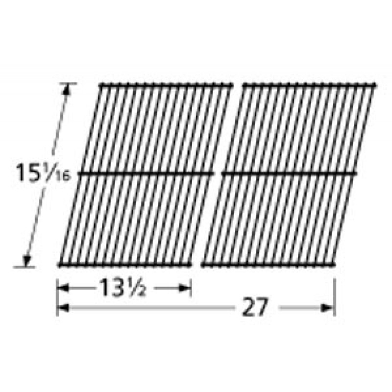 "SP102A-3 Porcelain Steel Wire Cooking Grid 15.0625"" x 27"""