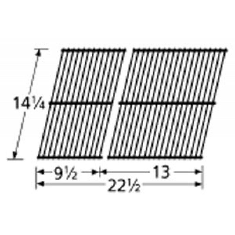 "SP125-3 Porcelain Steel Wire Cooking Grid 14.25"" x 22.5"""