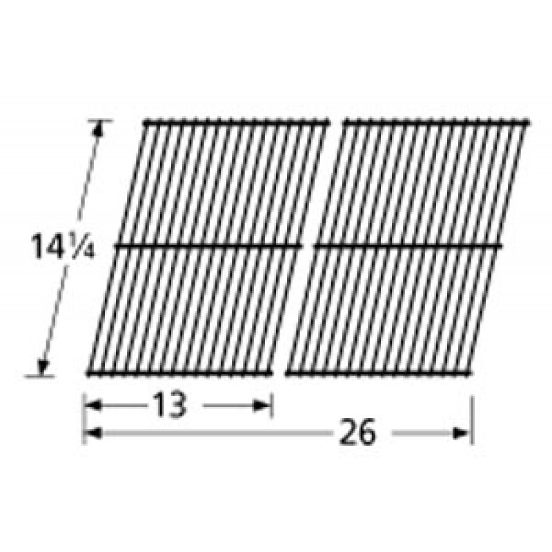 "SM2-3G Porcelain Steel Wire Cooking Grid 14.25"" x 26"""