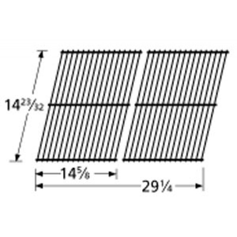 "4152053 Charbroil Porcelain Steel Wire Cooking Grid 14.71875"" x 29.25"""