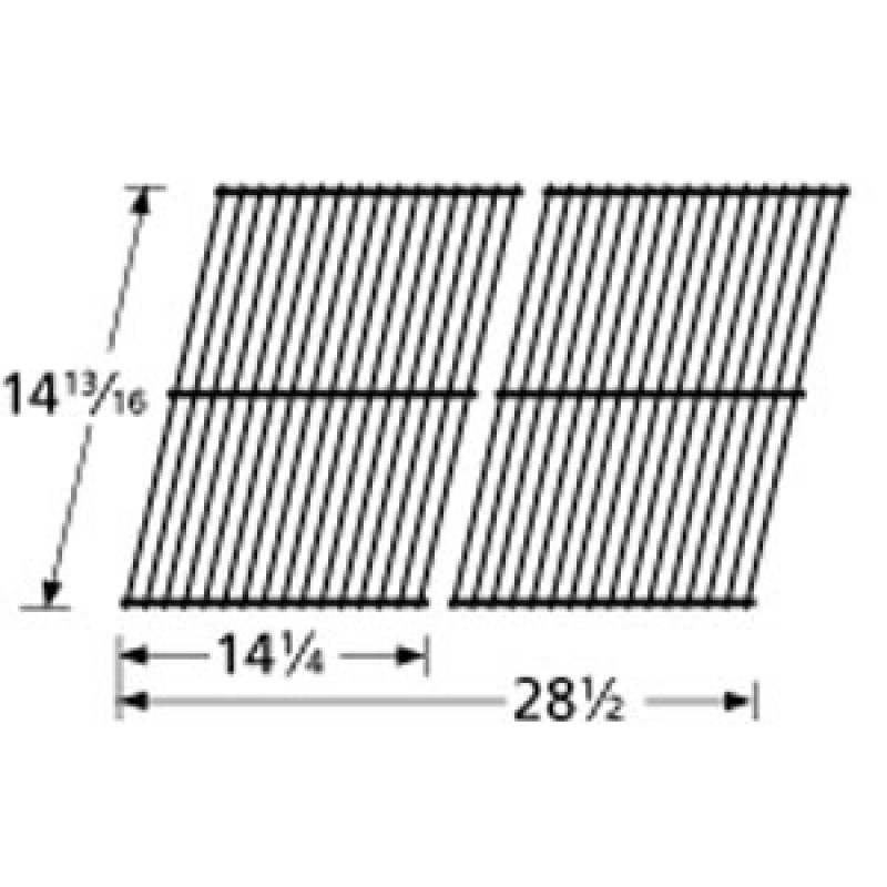 "9957802 Porcelain Steel Wire Cooking Grid 14.8125"" x 28.5"""
