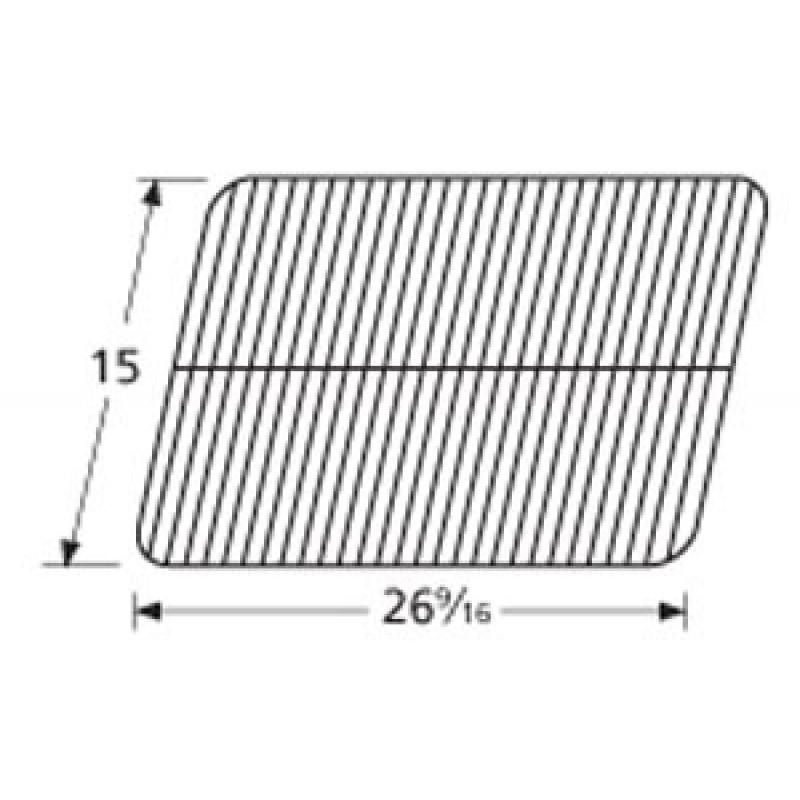 "9958211 Porcelain Steel Wire Cooking Grid 15"" x 26.5625"""