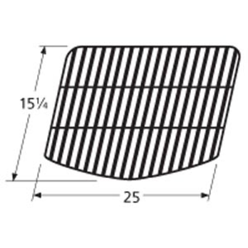 """9959211 Porcelain Steel Bar Cooking Grid 15.25"""" x 25"""""""