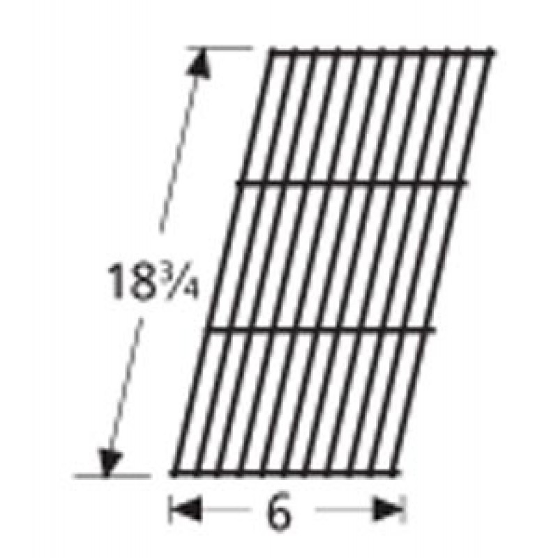 """9959501 Porcelain Steel Wire Cooking Grid 18.75"""" x 6"""""""