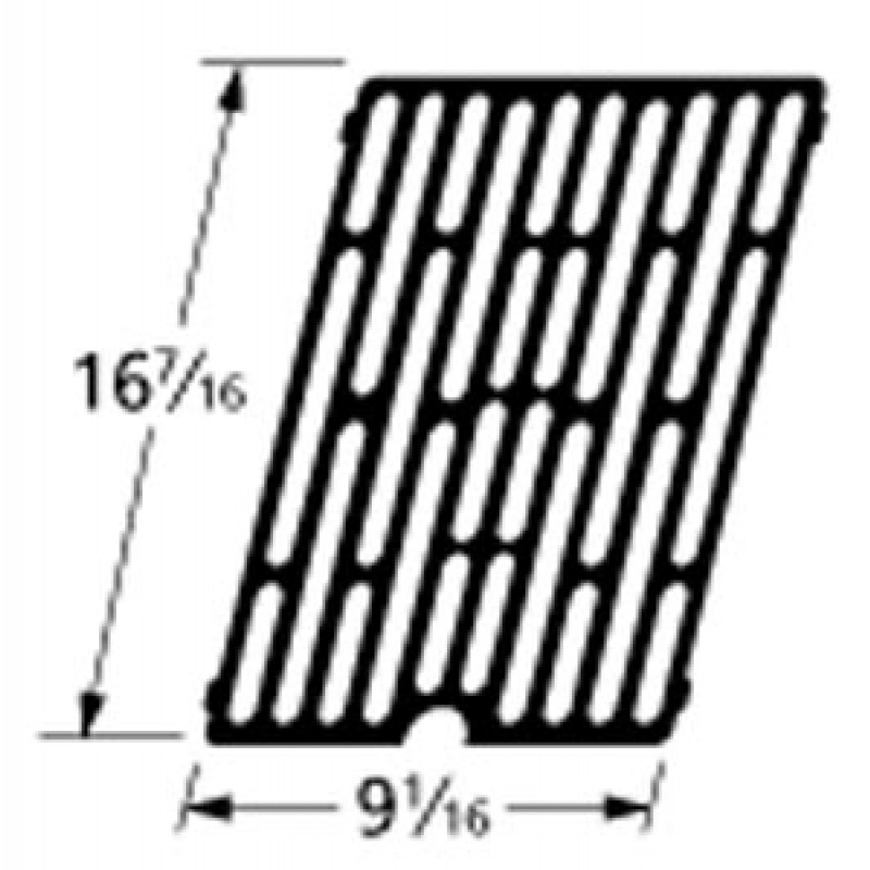 "9961271 Cast Iron Cooking Grid 16.4375"" x 9.0625"""