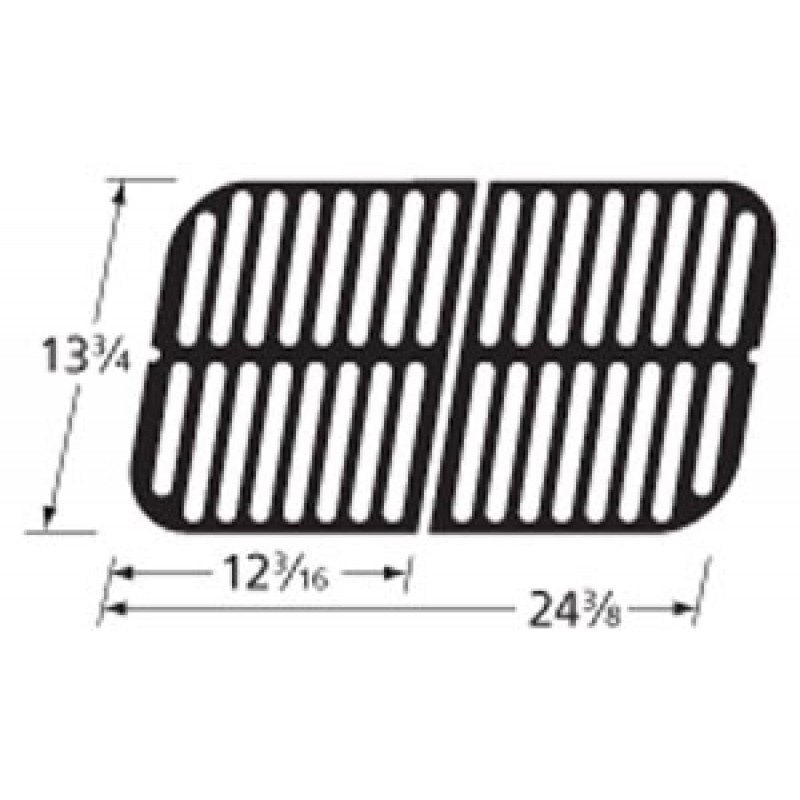 """9964242 Cast Iron Cooking Grid 13.75"""" x 24.375"""""""