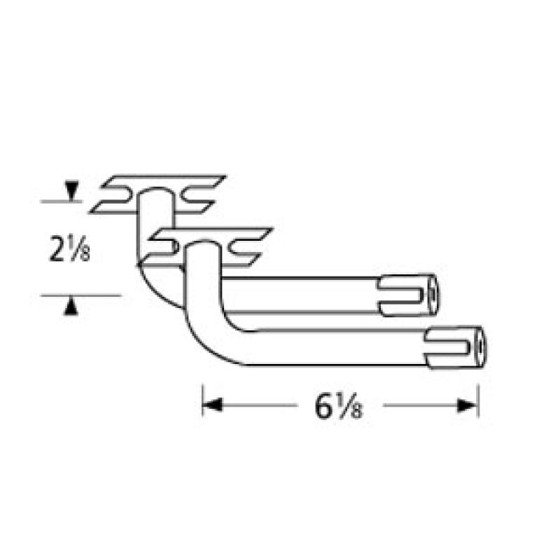 """99709LR L-Shaped Venturi Pair 6.125"""" x 2.125"""""""