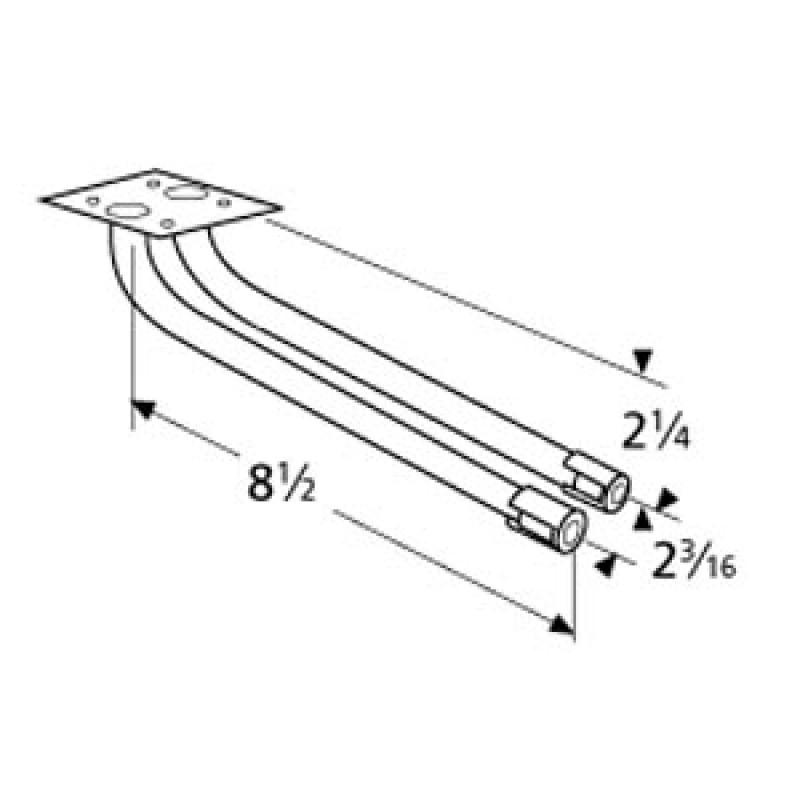 """9971712 L-Shaped Twin Venturi 8.5"""" x 2.25"""""""