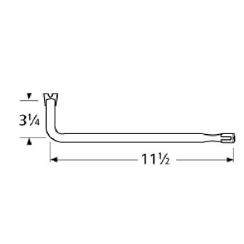 "9971721 L-Shaped Single Venturi 11.5"" x 3.25"""