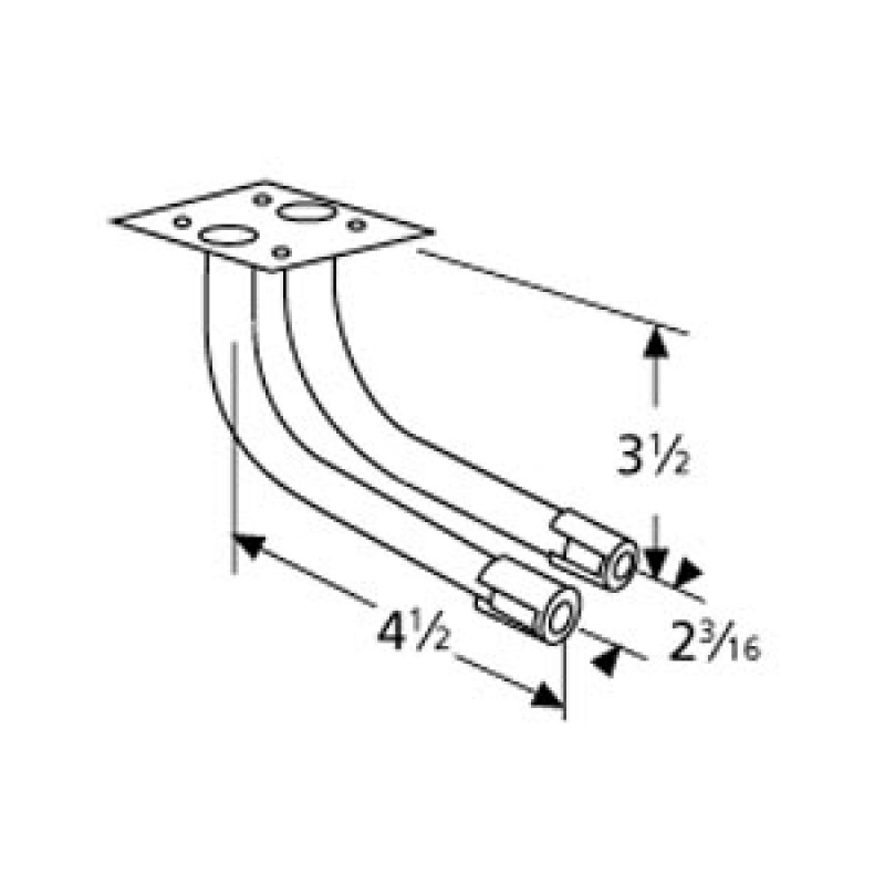 """9973502 L-Shaped Twin Venturi 4.5"""" x 3.5"""""""