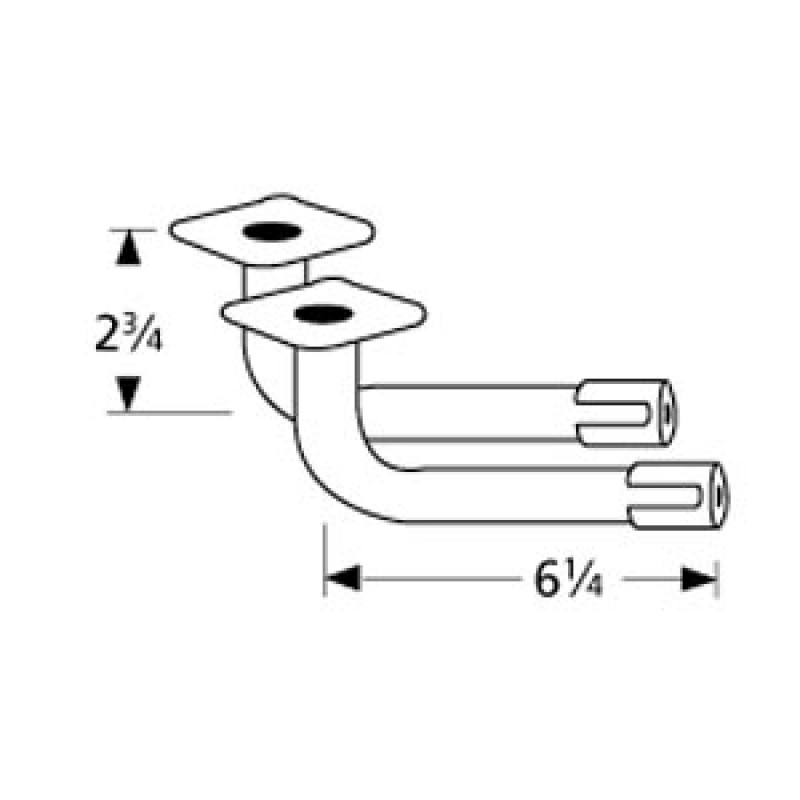"9974202 L-Shaped Venturi Pair 6.25"" x 2.75"""