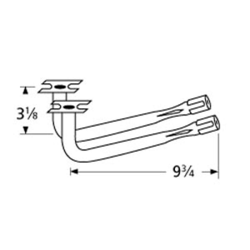 "40 2553 Sunbeam L-Shaped Venturi Pair 9.75"" x 3.125"""