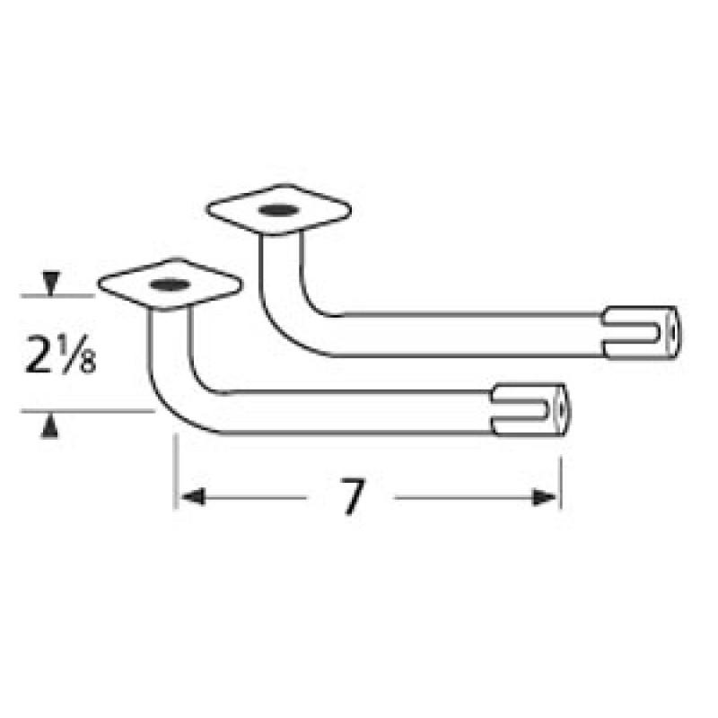 "40 2048 Sunbeam L-Shaped Venturi Pair 7"" x 2.125"""