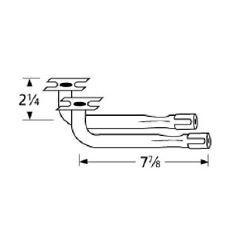 "40 4449 Sunbeam L-Shaped Venturi Pair 7.875"" x 2.25"""