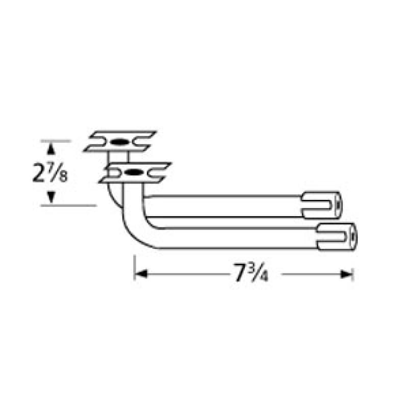 "9976012 L-Shaped Venturi Pair 7.75"" x 2.875"""