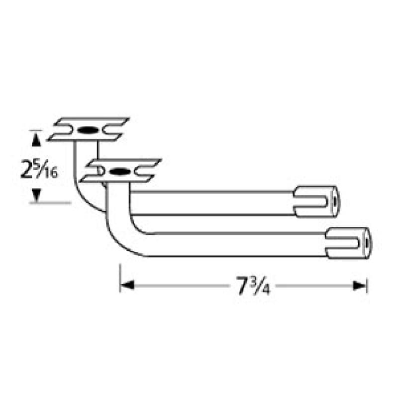 "9976112 L-Shaped Venturi Pair 7.75"" x 2.3125"""