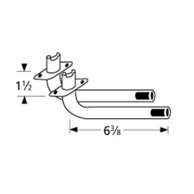 "9976402 L-Shaped Venturi Pair 6.375"" x 1.5"""