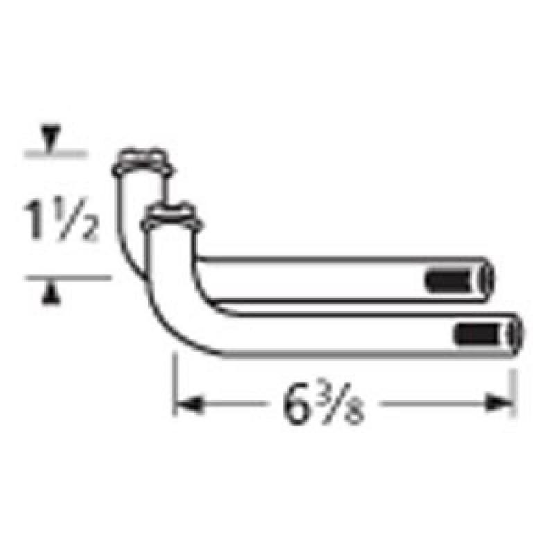 "9976422 L-Shaped Venturi Pair 6.375"" x 1.5"""