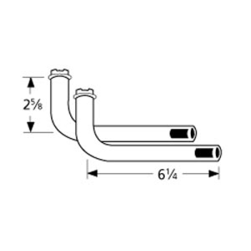 "9977022 L-Shaped Venturi Pair 6.25"" x 2.625"""