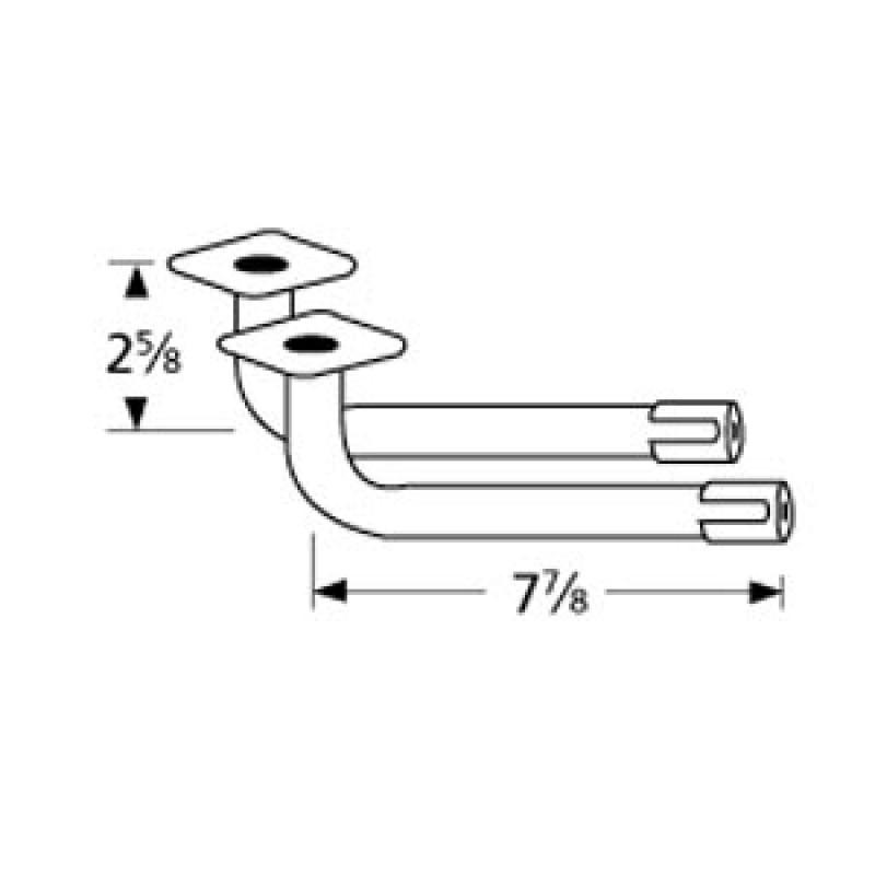 """3220 0103 Grill Master L-Shaped Venturi Pair 7.875"""" x 2.625"""""""