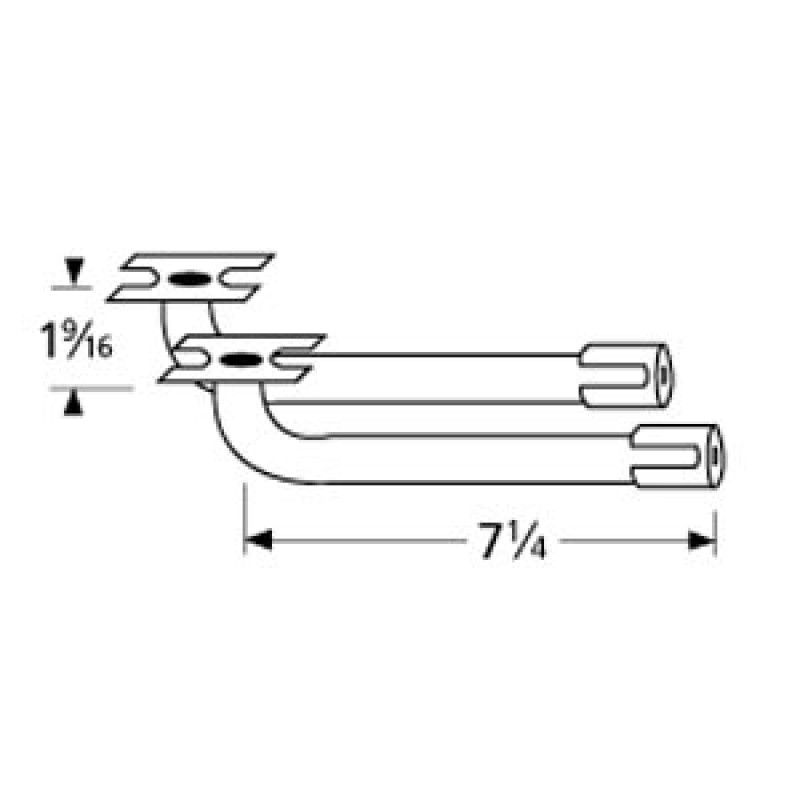 "9978002 L-Shaped Venturi Pair 7.25"" x 1.5625"""