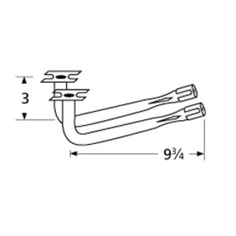 """40 3283 Sunbeam Special Venturi Pair 9.75"""" x 3"""""""