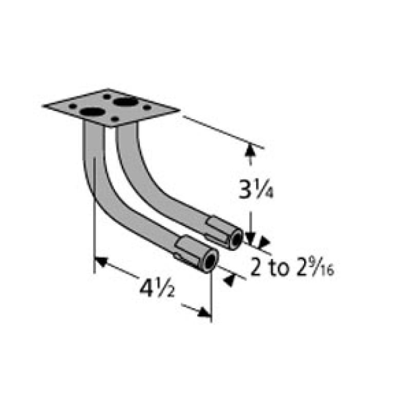 """9978802 L-Shaped Twin Venturi 4.5"""" x 3.25"""""""