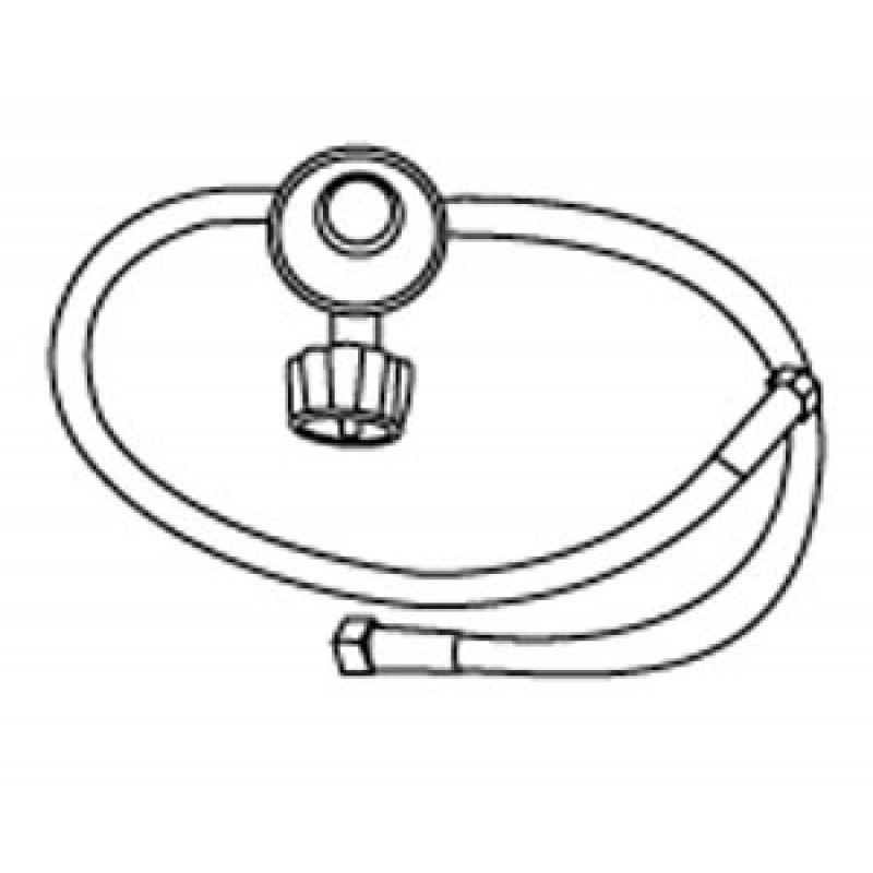 "9980034 Lp Regulator With Two Hoses 24"" For Side Burner Applications"