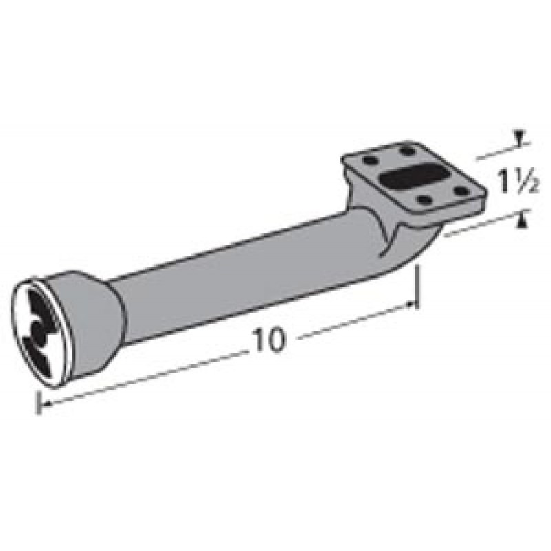 """9980901 L-Shaped Venturi 10"""" x 1.5"""""""